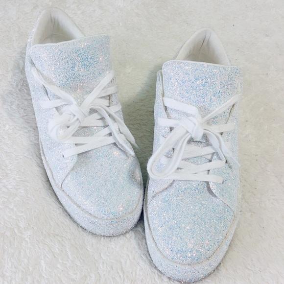 f90b9411a0de9 Aldo Shoes - ALDO Etilivia Iridescent Glitter Sneakers